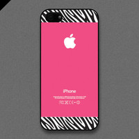 iPhone 5 Case - Zebra pattern on Hot pink - also available in iPhone 4 and iPhone 4S size