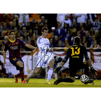 Gareth Bale Signed Real Madrid Scoring Against the Golie 12x16 Photo (Icons Auth & Third Party Holo)