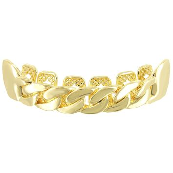 Designer Miami Cuban Style Men's Top Teeth Grillz