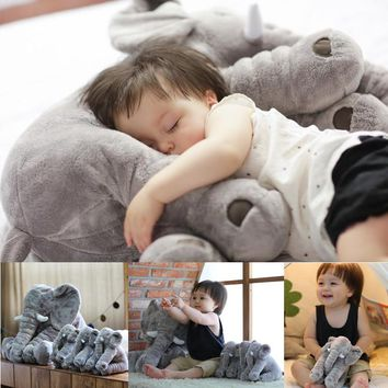 1pc 60cm Baby Soft Appease Elephant Plush Toy Kids Playmate Calm Doll Infant Appease Toys Elephant Pillow Soft Stuffed Doll