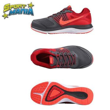 LMFON Ready Stock' NIKE DUAL FUSION X1 'Grey&Red' Men Sport Running shoes