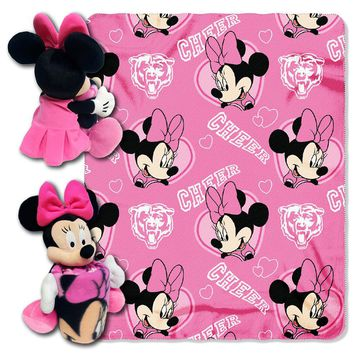 Chicago Bears NFL Minnie Mouse with Throw Combo