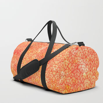 Autumn foliage Duffle Bag by Savousepate