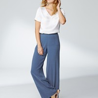 Pure Silk Wide-Leg Pants | Pure Clothing | Pure Collection USA