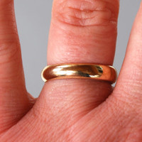 Vintage 10K Gold Filled Wedding Band Uncas Deadstock Bridal Unisex Size 8 // Vintage Designer Jewelry