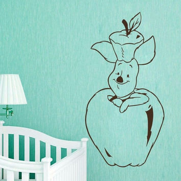 Winnie The Pooh Wall Decals Piglet Decal Nursery Baby Room Decor Sticker MR466