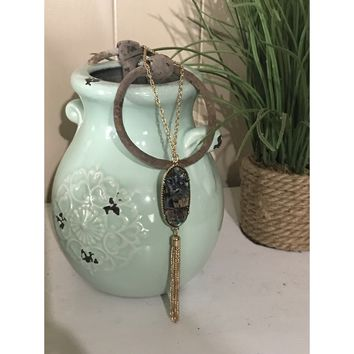 Abalone Tassel Necklace