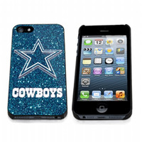 dallas cowboys blue glitter sparkle iPhone Case And Samsung Galaxy Case