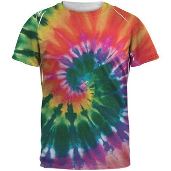 Chenier Spiral Tie Dye All Over Adult T-Shirt