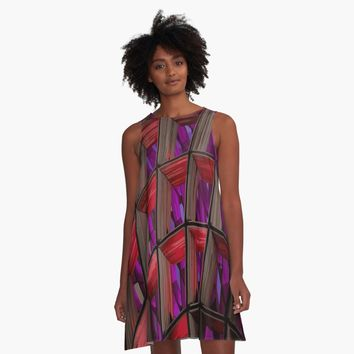 'Hypnotzd Abstract architecture 90' Vestido acampanado by hypnotzd