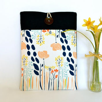 "Gift for Her Laptop Custom MacBook Case, 11"" MacBook Air, New 12"" inch MacBook, 13"", 15.4"" Macbook Sleeve with Pocket - Long Flowers"