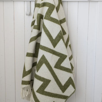 Forestry Wool Blanket | Fringe Army Green