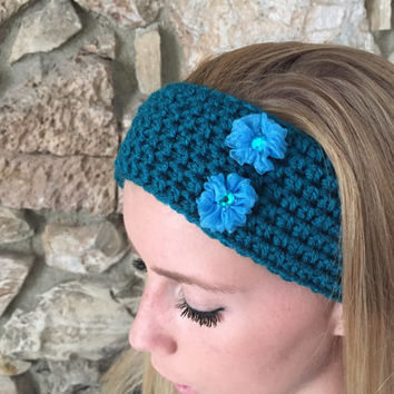 Crochet Headband, Hairband,  Ear Warmer, Girls Womens, Crochet Headwrap, Fall, Winter Headband, Back to School -  READY TO SHIP!