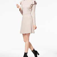 J.O.A. Ruffled Fit & Flare Dress - Dresses - Women - Macy's