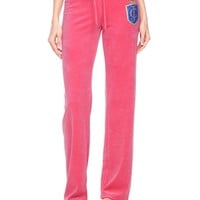 Logo Velour Juicy Laurel Crest Original Pant by Juicy Couture