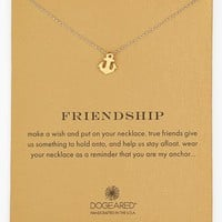 Women's Dogeared 'Reminder - Friendship' Anchor Pendant Necklace