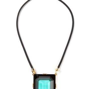Marc By Marc Jacobs square pendant necklace