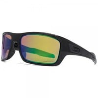 Oakley Turbine Sunglasses Polished Black Polarized Prizm Shallow Water OO9263-13