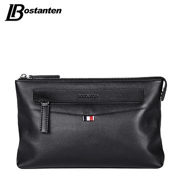 High Quality Business Long Men Wallets Genuine Leather Clutch Bag Men Purse Cell Phone Card Holder Wristlet