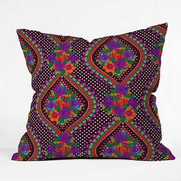 Aimee St Hill Ivy Purple Throw Pillow