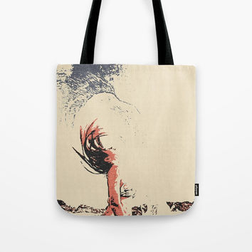 In the move - sexy nude girl, woman in bikini, abstract spiritual sketch, eagle spirit Tote Bag by hmdesignspl