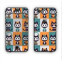 The Retro Cats with Accessories Apple iPhone 6 Plus LifeProof Nuud Case Skin Set