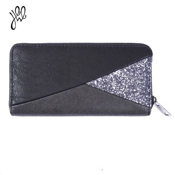 Fashion Women Wallet 2017 Long Zipper Wallets PU Leather Lady Purse Card&Phone Holder Money Hand Bags Patchwork Wallets 500597