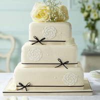 Black & Ivory Chocolate Wedding Cake | M&S