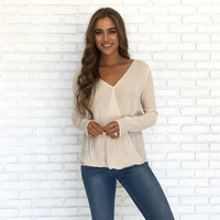 Closed Off Blouse In Cream