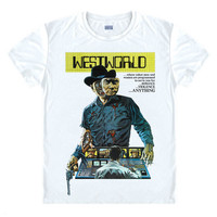 WESTWORLD Original Movie Cotton Men's T Shirts