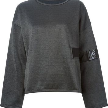 ICIKIN3 MM6 By Maison Martin Margiela sheer panel sweatshirt