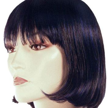 China Doll Black-neon Green Women's girls wig Halloween