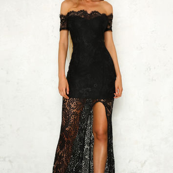 Room Service Maxi Dress Black