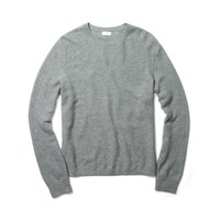 Cashmere Waffle-Knit Crew
