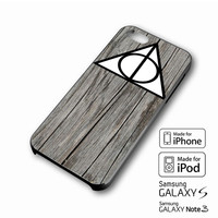 Black Wood Deathly Hallow iPhone case 4/4s, 5S, 5C, 6, 6 +, Samsung Galaxy case S3, S4, S5, Galaxy Note Case 2,3,4, iPod Touch case 4th, 5th, HTC One Case M7/M8