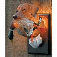 Wild Wings Chocolate Lab with Duck Night Light