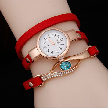 Sapphire peacock eye watch wrapped table women watch models sloggi fashion female belt quartz watch
