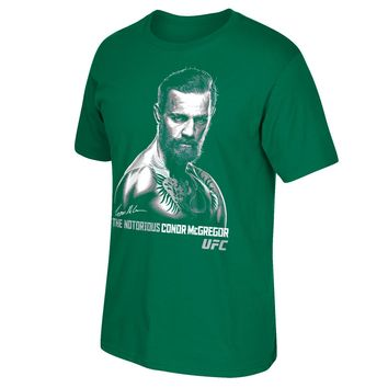 Reebok Male UFC The Notorious Conor Mcgregor Irish Green T-Shirt, (Size S-2XL)