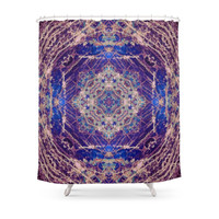 Society6 Labradorite Mandala Shower Curtain