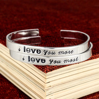 I Love You More I Love You Most - 1UP Mushroom - Video Game Bracelet Set