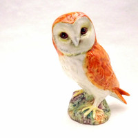 Vintage Porcelain Owl by Beswick Pottery 2060, England, Small Home Decor Tabletop Ceramic Pottery Decoration
