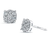 Women's Bony Levy 'Lucky 7' Diamond Stud Earrings - White Gold (Nordstrom Exclusive)