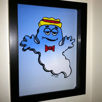 Boo Berry Cereal Box Art Funny Kitchen Art Breakfast  by PopsicArt