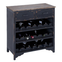 Wooden Wine Cabinet with Additional Storage Space