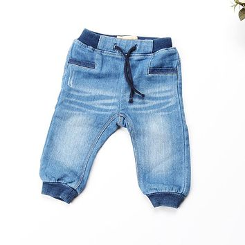 Baby jeans 2018 Spring new kids pants for babies clothies denim Toddler Kid Stretch Solid Trousers Baby Boy jeans