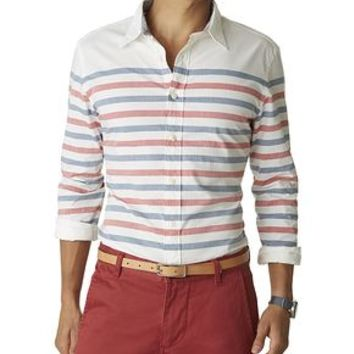 Dockers Breton Stripe Shirt - White - Men's