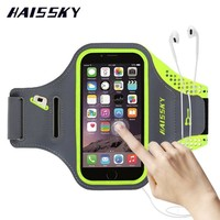 HAISSKY Sport Running Arm Band Case Wallet Cover For iPhone 6 6S 7 Plus Samsung Galaxy S7 Edge S8 Xiaomi mi5 Huawei P9 P10 Plus
