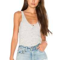 David Lerner Snap Front Tank in Light Heather Grey | REVOLVE