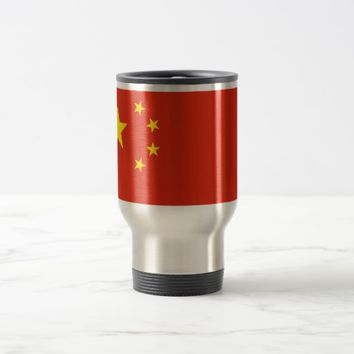 Travel Mug with Flag of China
