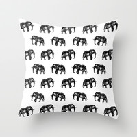 Cool Africa Pattern Elephant Picture Throw Pillow by 1986